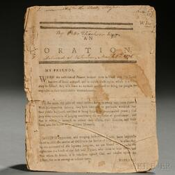 Oration Delivered at Watertown, March 5, 1776