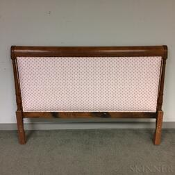 French Provincial-style Upholstered Walnut Headboard