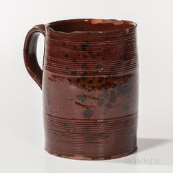 Manganese-decorated Redware Mug