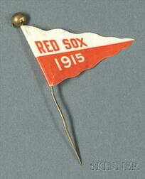 1915 Boston Red Sox/Old Vienna Promotional Lithographed Tin Pin