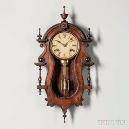 """E.N. Welch Hanging Wall Clock """"B.W. Wagner"""" Variation"""