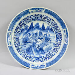 Chinese Blue and White Ceramic Charger