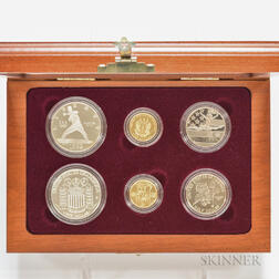 1992 U.S. Olympic Commemorative Gold and Silver Six-coin Set.
