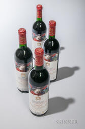 Chateau Mouton Rothschild 1985, 4 bottles