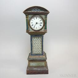 Doulton Lambeth Stoneware Tall Clock