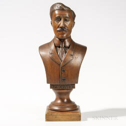 Carved Wood Bust