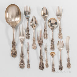 """Seventy-seven Pieces of Reed & Barton """"Francis I"""" Sterling Silver Flatware"""