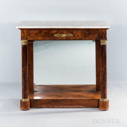 Marble-top Pier Table