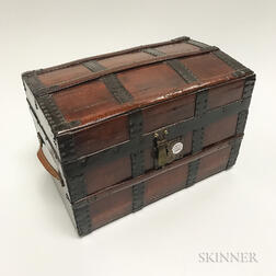 Miniature Dome-top Travel Trunk