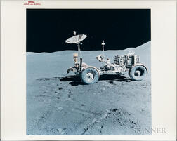 Apollo 15, Lunar Roving Vehicle at the Hadley-Apennine Landing Site, August 1971.