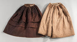 Two Quilted Petticoats