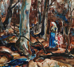 John Edward Costigan (American, 1888-1972)      Two Watercolors on Paper: In the Woods