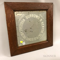 Burrows & Kenyon Lumber Dealers Oak-framed Advertising Mirror