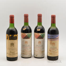 Chateau Mouton Rothschild, 4 bottles