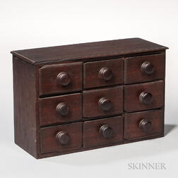 Nine-drawer Walnut Spice Box