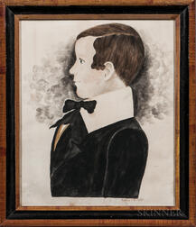 Mary B. Tucker (Massachusetts, 1784-1853)      Portrait of a Young Boy in a Black Jacket