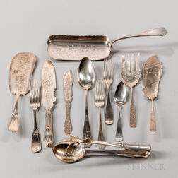 Group of American 19th Century Silver Flatware