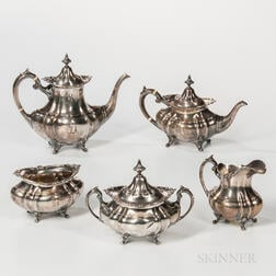 "Reed & Barton ""Hampton Court"" Pattern Sterling Silver Tea and Coffee Service"