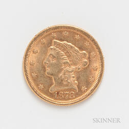 1878 $2.50 Liberty Head Gold Coin.     Estimate $200-400
