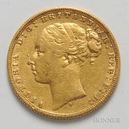 1874-S British Gold Sovereign