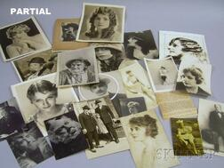 Approximately 130 Early 20th Century Movie Studio and Theater Publicity Portrait Photographs