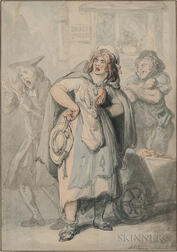 Attributed to Thomas Rowlandson (British, 1756-1827)      A Blowing or Bunt...