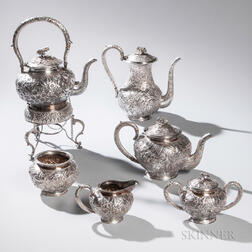 Six-piece Chinese Export Silver Tea and Coffee Service