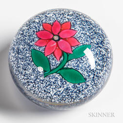 Boston and Sandwich Glass Company Pink Poinsettia Paperweight