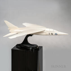 Fairchild Hiller Republic Fighter Presentation Aviation Model with Display Plinth