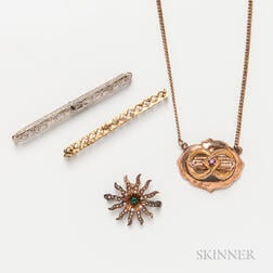 Four Pieces of Antique Jewelry