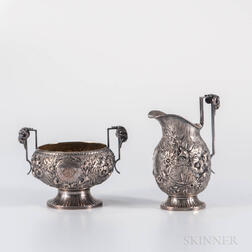 Tiffany & Co. Sterling Silver Creamer and Sugar
