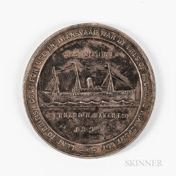 1899 South African Hospital Ship S.S. Maine   Silver Medal