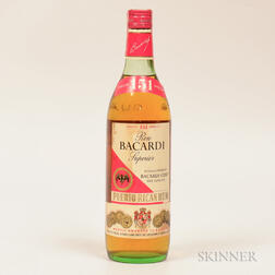 Bacardi 151, 1 4/5 quart bottle