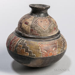 Paracas Painted Pottery Vessel