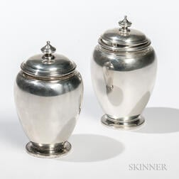 Two Tiffany & Co. Sterling Silver Tea Canisters