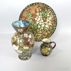 Three Doulton Lambeth Ceramic Faience Items