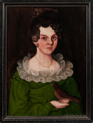 Thomas Ware (Vermont, 1803-1836)      Portrait of Huldah Edson Lake