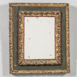 Green-painted and Gilt Mirror