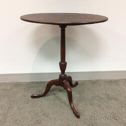 Chippendale-style Mahogany Tilt-top Tea Table