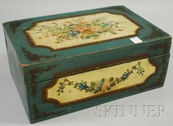 Martha and Ralph Cahoon Polychrome Paint-decorated Lidded Wooden Box