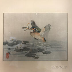 Two Paintings Depicting Geese and Bamboo