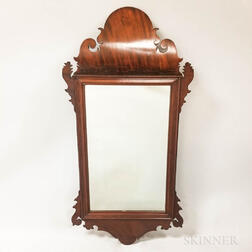 Chippendale Mahogany Scroll Frame Mirror