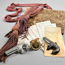 Journal, Pistols, Sash, Gold Watch, and Papers of Colonel Richard C. Dawkins, 6th Kentucky Infantry