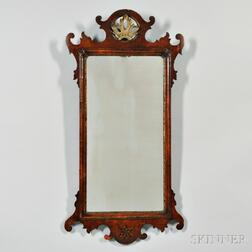Queen Anne-style Walnut Mirror