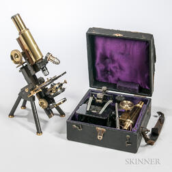J. Swift & Son Compound Microscope and a R. Plagwitz Illuminator Microscope