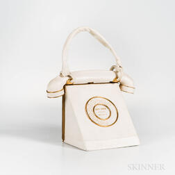 Anne-Marie White Leather Telephone Handbag