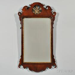 Queen Anne-style Parcel-gilt Mahogany Mirror