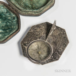 Silver Pocket Sundial by Michael Butterfield