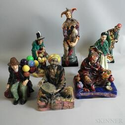 Seven Royal Doulton Ceramic Figures