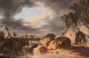 French School, 18th Century      Landscape with Bridge